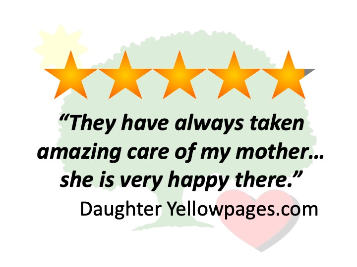 5 Star Review Assisted Living from Customer Rating